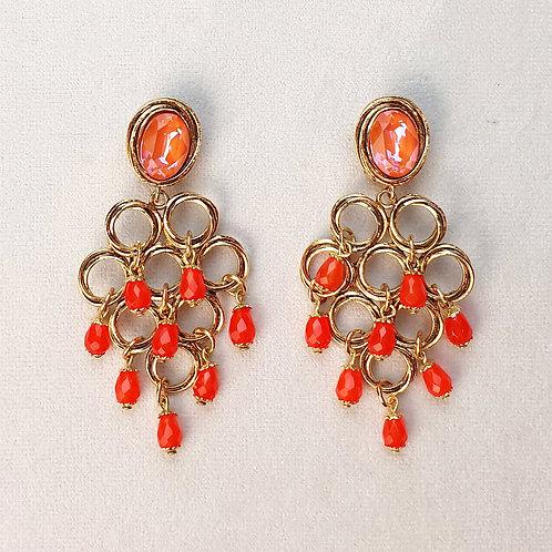Boucles d'oreilles FAST 38 D/Orange Glow