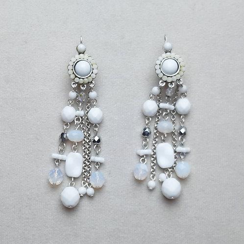 Boucles d'oreilles POG 1 A/Blanc