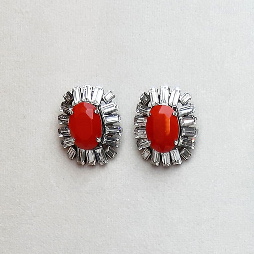 Boucles d'oreilles NEO 1 A/Rouge