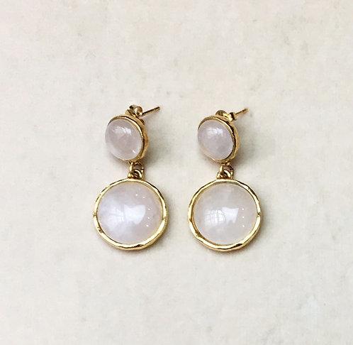 Boucles d'oreilles STON 6 D/Cristal de Roche