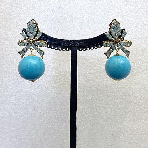 Boucles d'oreilles BAL SR D/Turquoise