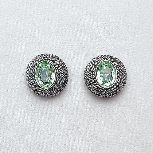 Boucles d'oreilles ELO 5 A/Chrysolite