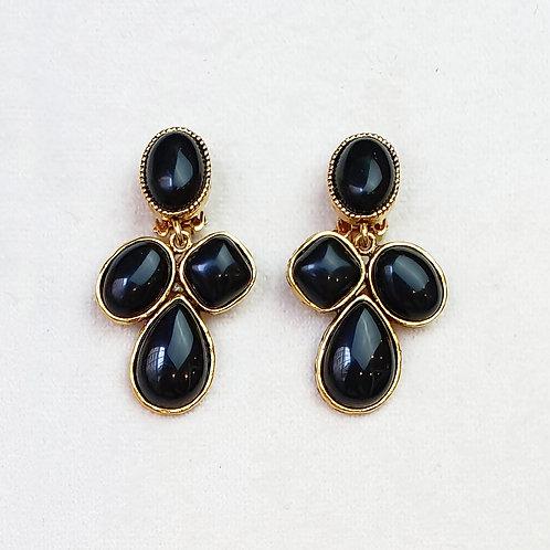 Boucles d'oreilles STON 17 D/Onyx