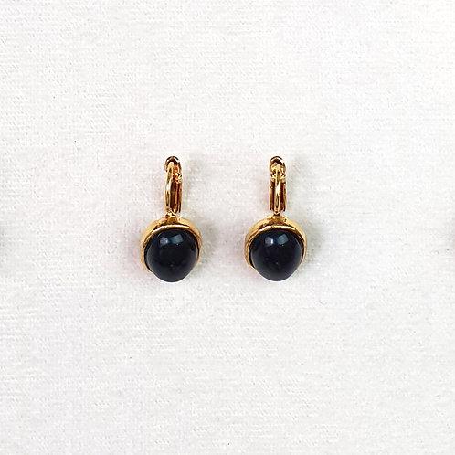Boucles d'oreilles STON 3 D/Onyx