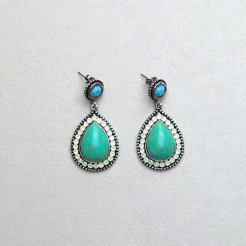 Boucles d'oreilles ODE 35 D/Turquoise