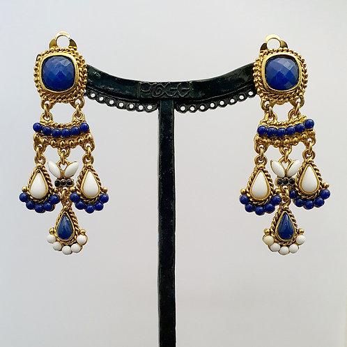 Boucles d'oreilles SOY 18 D/Bleu