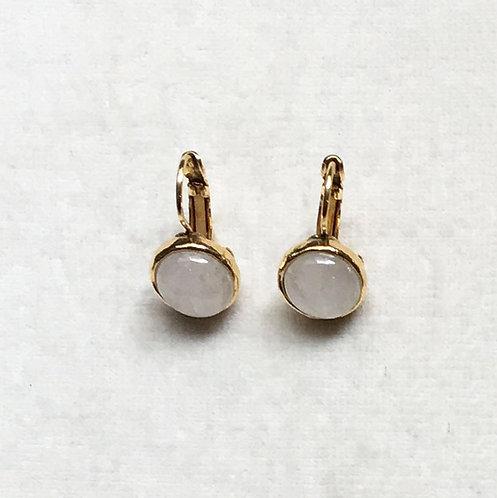 Boucles d'oreilles STON 1 D/Cristal de Roche