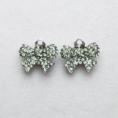 Boucles d'oreilles NOD 1 A/Chrysolite