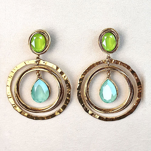 Boucles d'oreilles FAST 22 D/Mint Green/Lime
