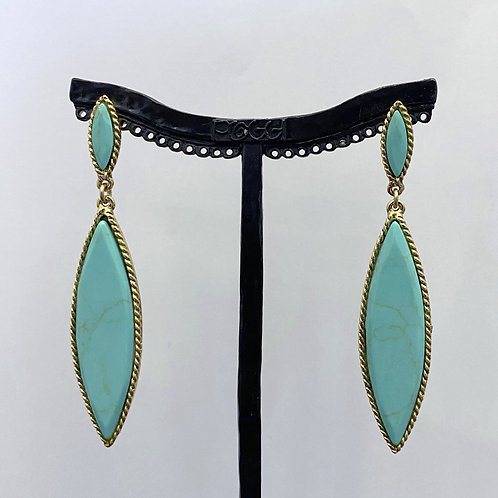 Boucles d'oreilles ROK 28 D/Turquoise