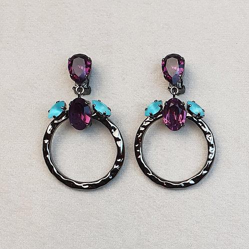 Boucles d'oreilles ART 907 N/Turquoise