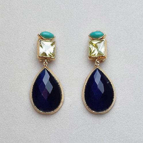 Boucles d'oreilles MIS 8 D/Bleu Profond