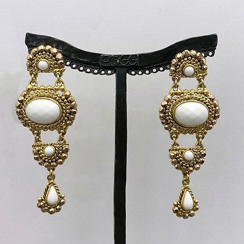 Boucles d'oreilles SOY 7 D/Blanc