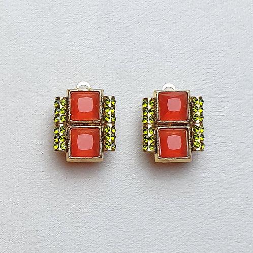 Boucles d'oreilles  DEC 1 A/Tangerine