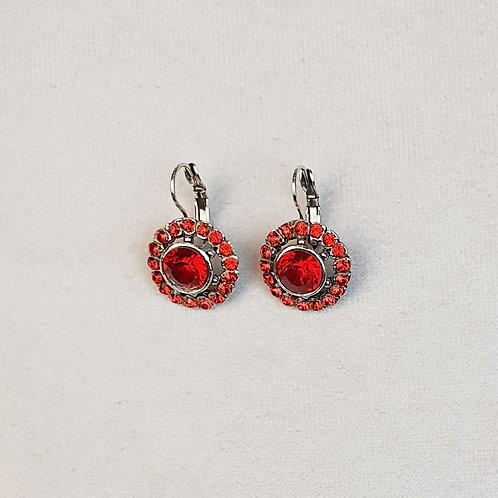 Boucles d'oreilles BAL 20 A/Rouge