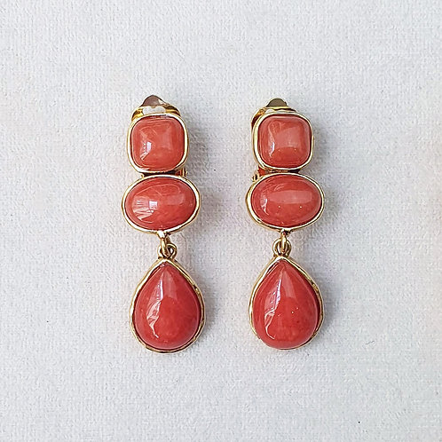 Boucles d'oreilles STON 8 D/Terracotta