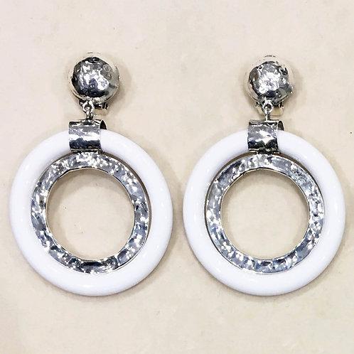 Boucles d'oreilles ART 0187 A/Blanc