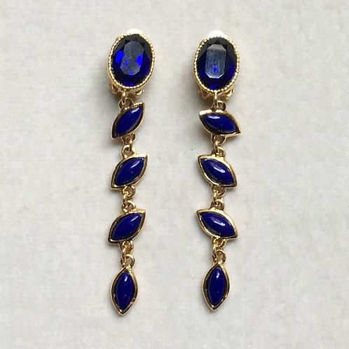 Boucles d'oreilles FAB 2 D/Bleu