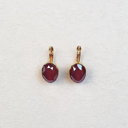 Boucles d'oreilles STON 3 D/Dark Red