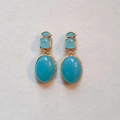 Boucles d'oreilles MIS 7 D/Turquoise