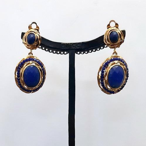 Boucles d'oreilles BAL 59 D/Bleu