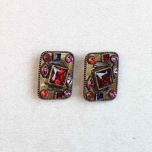 Boucles d'oreilles HIT 11 B/Rouge