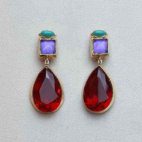 Boucles d'oreilles MIS 8 D/Siam/Purple