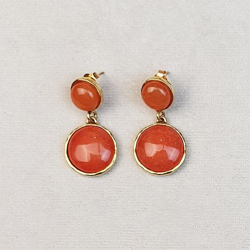 Boucles d'oreilles STON 6 D/Terracotta