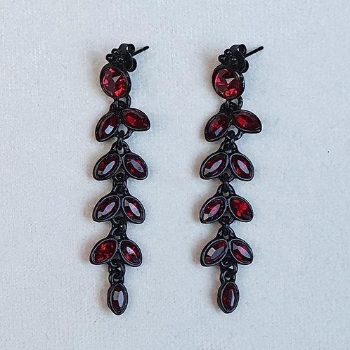Boucles d'oreilles PAM 5 N/Siam