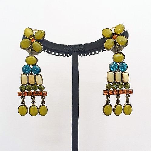 Boucles d'oreilles FOX 9 B/Yellow Opal