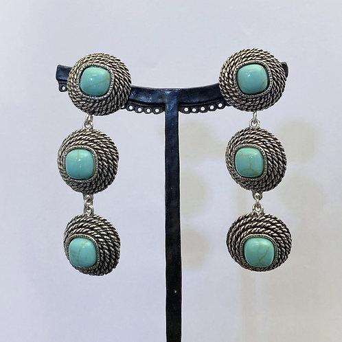 Boucles d'oreilles ELO 15 A/Turquoise