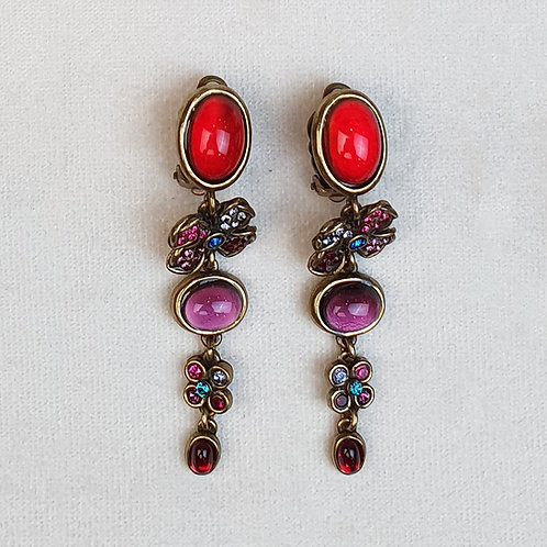 Boucles d'oreilles FLO 4 B/Vermillon