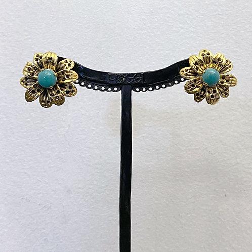 Boucles d'oreilles ROS 3 D/Turquoise