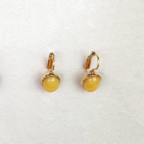 Boucles d'oreilles STON 3 D/Ambre