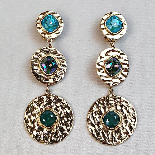 Boucles d'oreilles FAST 44 D/Royal Green/Multi