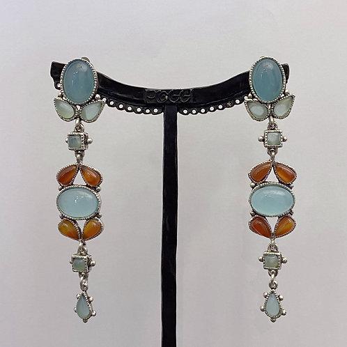 Boucles d'oreilles FAM 10 A/Turquoise