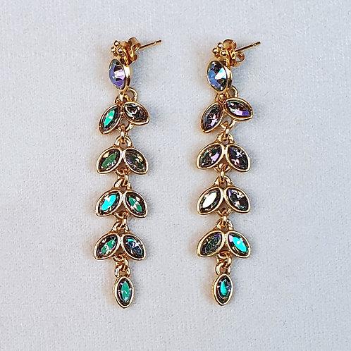 Boucles d'oreilles PAM 5 D/Iridescent