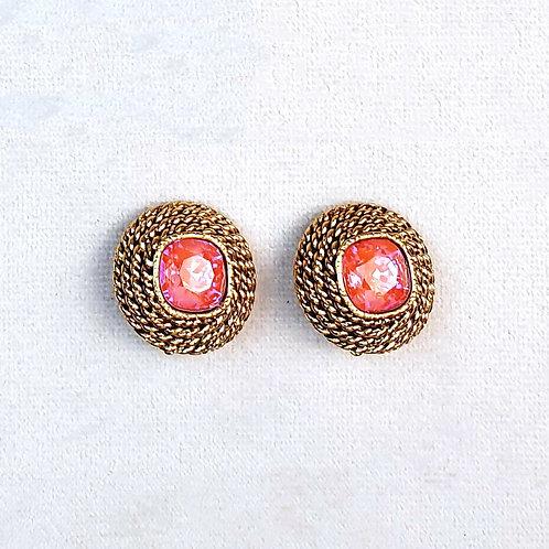 Boucles d'oreilles ELO 3 D/Orange Glow