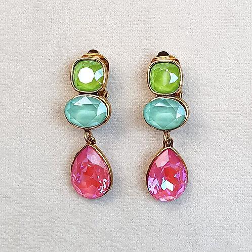 Boucles d'oreilles STON 8 D/Lotus Pink/Mint