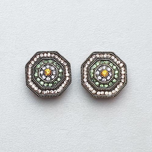 Boucles d'oreilles TAJ SR B/Peridot