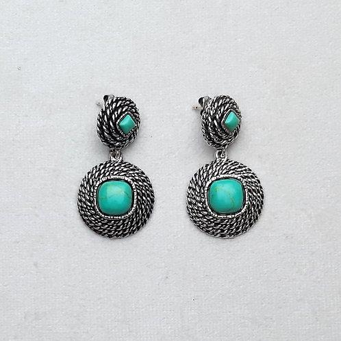 Boucles d'oreilles ELO 22 A/Turquoise