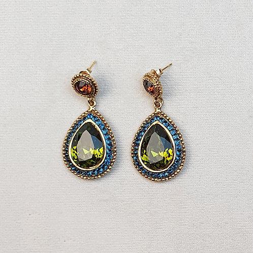 Boucles d'oreilles ODE 35 D/Vert