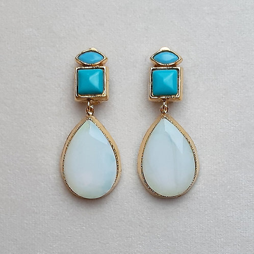 Boucles d'oreilles MIS 8 D/White Opal