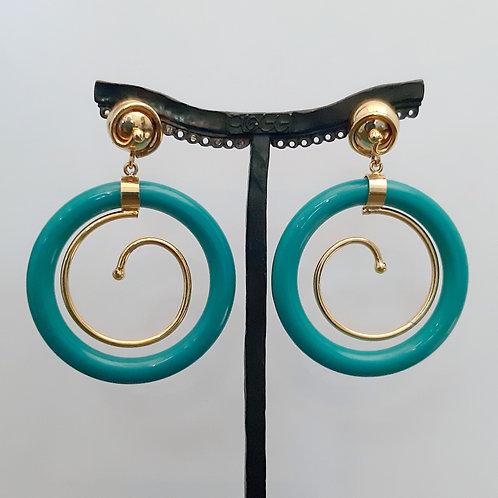 Boucles d'oreilles ART 811 D/Turquoise