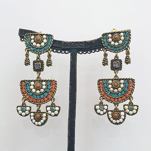 Boucles d'oreilles BAY 19 B/Turquoise