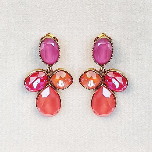 Boucles d'oreilles STON 17 D/Light Coral