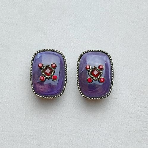 Boucles d'oreilles BEL 7 B/Violet