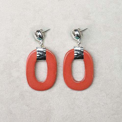 Boucles d'oreilles ART 0241 A/Orange