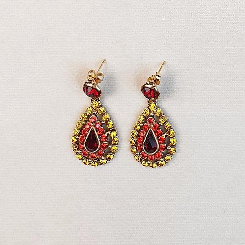 Boucles d'oreilles BAL 53 D/Rouge
