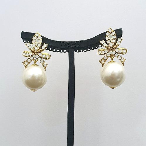 Boucles d'oreilles BAL SR D/White Opal